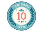 Ten Years Anniversary Badge