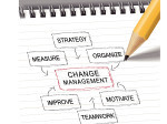 change management flow chart with pencil
