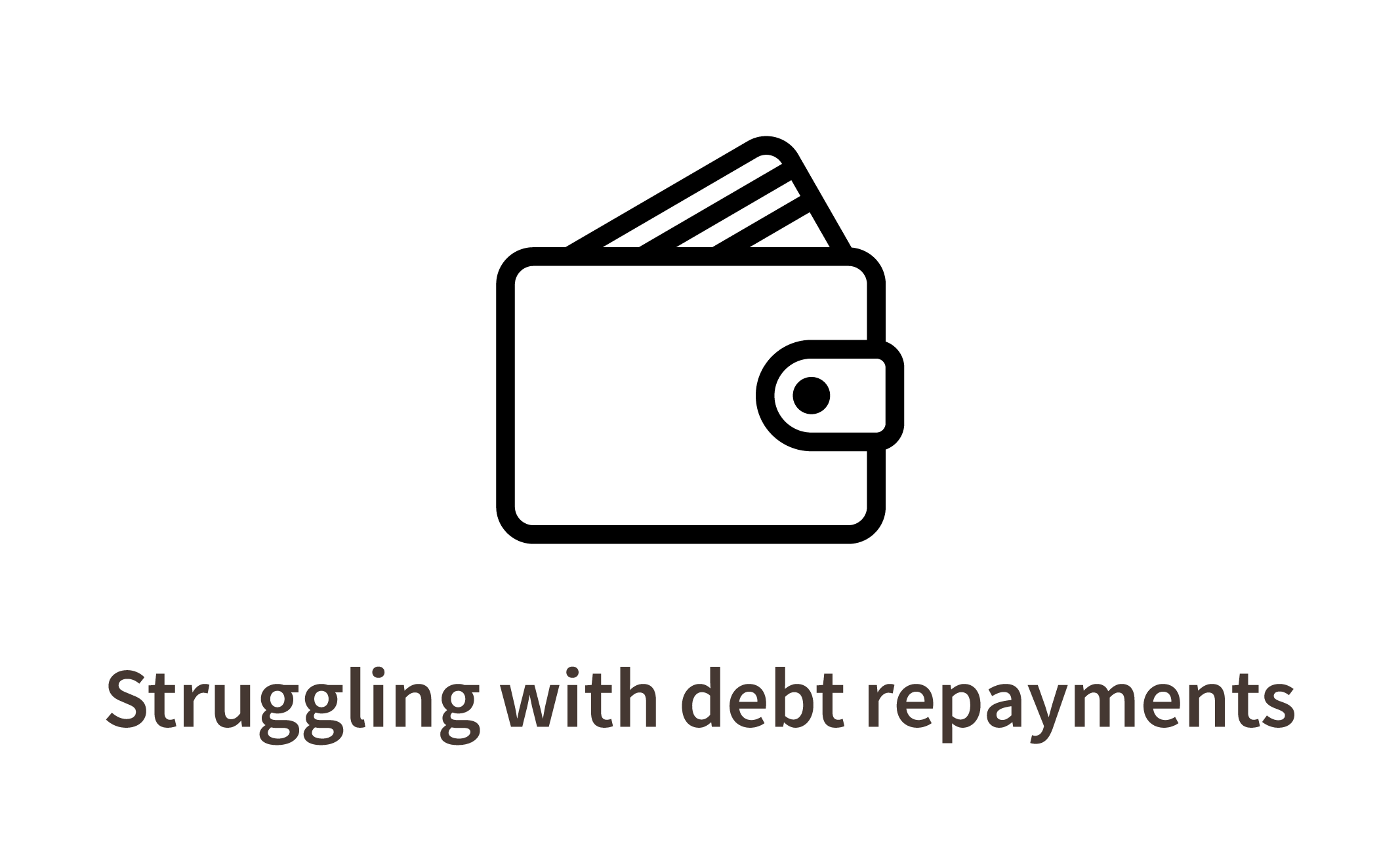 Struggling with debt repayments